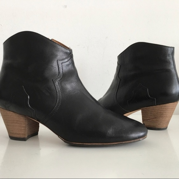 96a31f3083 Isabel Marant Shoes - Isabel Marant black leather dicker boot. Size 40
